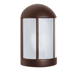 Frosted Glass Outdoor Wall Light Bronze Costaluz by Besa Lighting