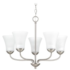 Progress Lighting Classic Brushed Nickel Chandelier