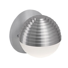 Modern Brushed Nickel LED Sconce with Frosted Shade 3000K 260LM
