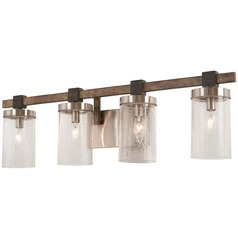 Minka Lavery Bridlewood Stone Grey with brushed Nickel Bathroom Light