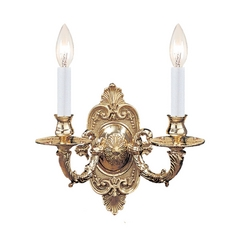 Sconce Wall Light in Polished Brass Finish