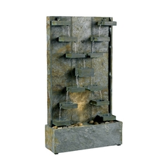 Modern Fountain in Natural Green Slate Finish