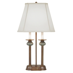Design Classics Lighting Console Column Table Lamp with Two Lights - Shade Not Included DCL M6004-11-38