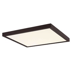 Flat LED Light Surface Mount 14-Inch Square Bronze 2700K 1560LM