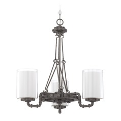 Jeremiah Lighting Prime Aged Galvanized Chandelier
