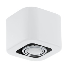 Eglo Toreno 1 Glossy White & Chrome Flushmount Light