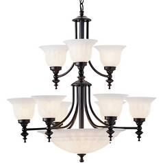 Dolan Designs 2-Tier 12-Light Chandelier in Royal Bronze