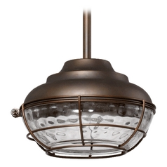 Quorum Lighting Hudson Oiled Bronze Outdoor Hanging Light