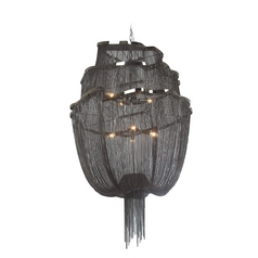 Avenue Lighting Mulholland Drive Black Polished Nickel Pendant Light