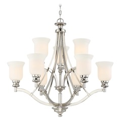 Minka Audrey's Point Polished Nickel Chandelier