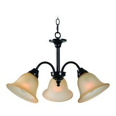 Flowers Oil Rubbed Bronze with Gold Highlights Chandelier by Kenroy Home