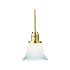 Hudson Valley Lighting Mini-Pendant Light with White Glass 3101-PB-341