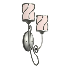 Kalco Lighting Helix Aged Silver Sconce