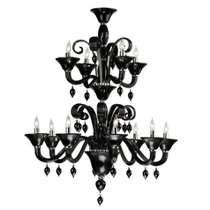 Cyan Design Treviso Chrome with Black Chandelier