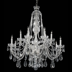 Crystorama Traditional 2-Tier 12-Light Crystal Chandelier in Polished Chrome