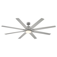 Savoy House Lighting Bluffton Grey Wood LED Ceiling Fan with Light