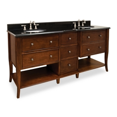 Hardware Resources Bathroom Vanity in Chocolate Finish VAN081D-72-T