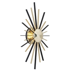 Troy Lighting Atomic Polished Brass with Matte Black LED Sconce
