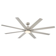 Savoy House Lighting Bluffton Satin Nickel LED Ceiling Fan with Light