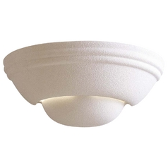 Sconce Wall Light with Beige / Cream Porcelain Shade in White Finish