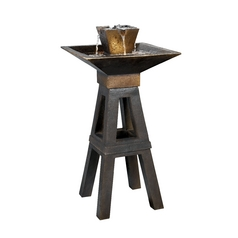 Outdoor Fountain in Copper Bronze Finish