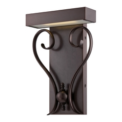 LED Sconce Wall Light in Hazel Bronze Finish