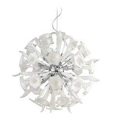 Cyan Design Remy White & Clear Pendant Light