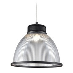 Industrial Bronze LED Pendant with Opaque Shade 3000K 490LM