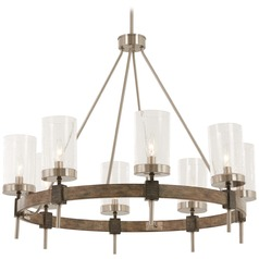 Minka Lavery Bridlewood Stone Grey with brushed Nickel Chandelier