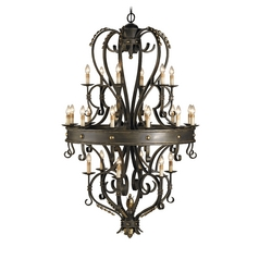 Chandelier in Bronze Verdigris Finish
