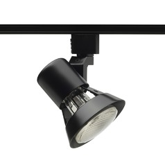 Modern Track Light Head in Black Finish