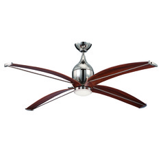 Craftmade Lighting Tyrod Polished Nickel Ceiling Fan with Light