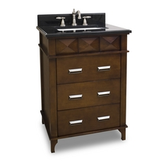 Hardware Resources Bathroom Vanity in Chocolate Finish VAN082-T