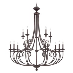 Savoy House Lighting Langley English Bronze Chandelier