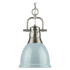 Golden Lighting Duncan Pewter Mini-Pendant Light