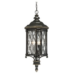 Minka Bexley Manor Black with Gold Outdoor Hanging Light