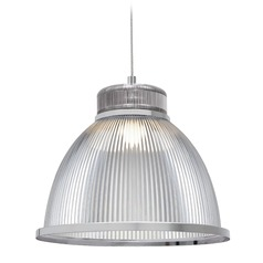 Industrial Chrome LED Pendant with Opaque Shade 3000K 550LM