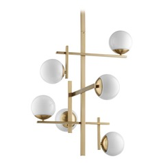 Quorum Lighting Atom Aged Brass Chandelier