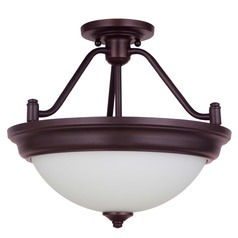 Craftmade Lighting Pro Builder Aged Bronze Brushed Semi-Flushmount Light