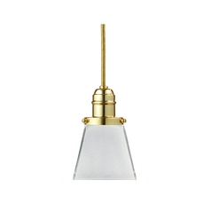 Hudson Valley Lighting Mini-Pendant Light with White Glass 3101-PB-436