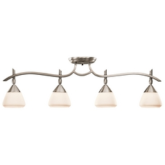 Kichler Directional Light with White Glass in Antique Pewter Finish