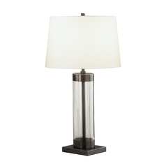 Robert Abbey Lighting Table Lamp with Clear Base Z3318