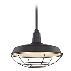Black Pendant Barn Light with 18