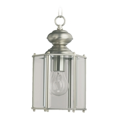 Quorum Lighting Lantern Satin Nickel Outdoor Hanging Light