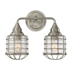 Savoy House Lighting Connell Satin Nickel Bathroom Light