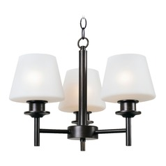 Mid-Century Modern Mini-Chandelier Bronze Heritage by Kenroy Home