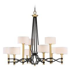 Savoy House Lighting Exeter Carbon Warm Brass Chandelier
