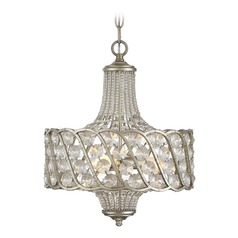 Silver Lace Bathroom Light Mini Chandelier Collection by Savoy House