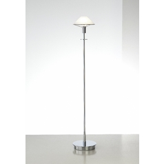 Holtkoetter Modern Floor Lamp with Alabaster Glass in Chrome Finish