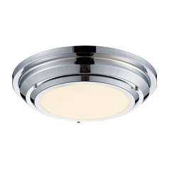 LED Flushmount Light in Polished Chrome Finish